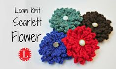 Loom Knit Flowers Free Pattern w Video Tutorial