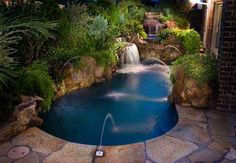 What is the Best Small Pool for a Small Yard? What is the Best Small Pool Outdoor Living: Inground Pool Ideas Small Yards , pool designs . Small Inground Pool, Small Swimming Pools, Small Backyard Pools, Swimming Pool Designs, Outdoor Pool, Small Backyards, Sloped Backyard, Modern Backyard, Outdoor Decor
