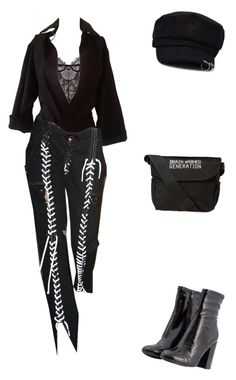 A fashion look from December 2017 featuring see through lingerie and steve madden booties. Browse and shop related looks. Dressy Outfits, Chic Outfits, Black Outfits, New Fashion, Fashion Looks, Street Fashion, Korean Fashion, Preppy Style, My Style
