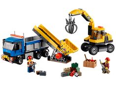 LEGO City - Get the job done with the demolition Excavator and Truck!
