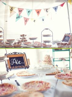 Wedding pie... yum! wish I had thought of this when I got married. I love, I mean love, pie.