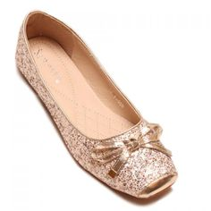 Gorgeous Women's Flat Shoes With Square Toe and Sequined Design