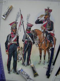 Original Patrice Courcelle : Lanciers Polonais de la Garde Impériale