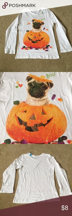 Bundle for $5: NWTs! Pug in Pumpkin Tee Bundle any 3 $8 items for $15 NWTs! Pug in Pumpkin Tee. From The Children's Place. Size is Child's Large. Children's Place Shirts & Tops Tees - Long Sleeve