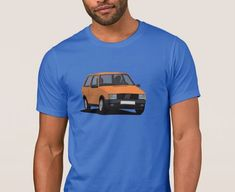 Fiat Uno Turbo i. on T-shirt. hot hatch from Italy. Fiat Uno, Car Illustration, Mk1, Cool Cars, Retro Vintage, Classic Cars, Italy, Prints, Mens Tops