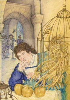 L'uccello d'oro  Fiaba dei F. Grimm Illustrazione di Lucia Campinoti