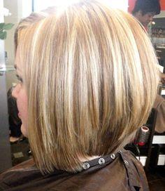 Inverted Bob Haircut Back View | Stacked bob/ Inverted bob/ graduated bob/ layered bob