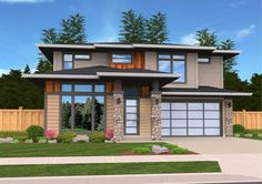 Exclusive Contemporary House Plan - 85139MS   2nd Floor Laundry, 2nd Floor Master Suite, Bonus Room, CAD Available, Den-Office-Library-Study, Exclusive, Modern, PDF, Prairie   Architectural Designs