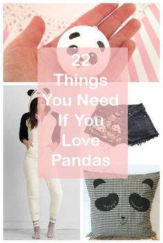 22 Adorable Things You Need If You Love Pandas.....@sarahnormal247 lol....you know what I'M talking about.....<3