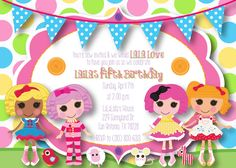 Lalaloopsy Inspired Customizable DIY Invitation  2. $6.99, via Etsy.