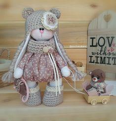 Irresistible Crochet a Doll Ideas. Radiant Crochet a Doll Ideas. Bunny Crochet, Cute Crochet, Teddy Toys, Bunny Toys, Knitted Dolls, Crochet Dolls, Knitted Animals, Amigurumi Toys, Stuffed Animal Patterns