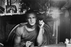 Black & White Treasure Trove #photography - Marlon Brando, A Streetcar Named Desire
