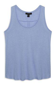 Blauw loshangend hemdje