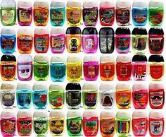 Bath and Body Works Pocketbac Hand Sanitizer Grab Bag Bundle pack of (10) Anti-Bacterial Hand Gels