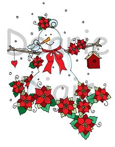 Free Dearie Dolls Digi Stamps: New on ETSY today.....Poinsettias! http://www.etsy.com/shop/Deariesbyme?ref=l2-shopheader-name