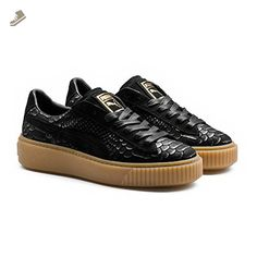 Puma Women Platform Exotic (black / gold) Size 8.0 US - Puma sneakers for