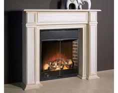 Estructura de chimenea madera decapada para cambiar el aire de tu salón.