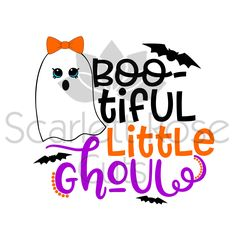 Bootiful little Ghoul Halloween SVG cut file, for silhouette cameo and cricut by ScarlettRoseCuts on Etsy