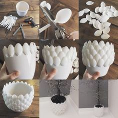 50 Ideas and Designs for Easy Home DIY Projects - 50 Ideas and Designs for Ea . - 50 Ideas and Designs for Easy Home DIY Projects – 50 Ideas and Designs for Easy Home DIY Projects - Diy Home Crafts, Creative Crafts, Diy Crafts To Sell, Creative Project Ideas, Diy Para A Casa, Diy Casa, Plastic Spoon Crafts, Plastic Spoons, Plastic Bottles
