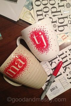 Design a custom set of mugs:   14 Easy And Inexpensive Wedding Gift Ideas