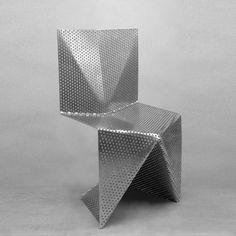 Aluminum Chair by Tobias Labarque Tobias Interiors and Concrete