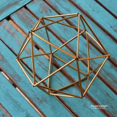 Himmeli icosahedron geometric knick knack!                                                                                                                                                                                 More