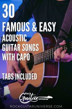 A guitar capo is an excellent tool that you can use to make songs easy to play. Just place the capo in the correct position and, now you can use basic chords instead of barre chords. If you want to practice some songs with a capo check these 30 famous & easy acoustic guitar songs with a capo #acoustic #guitar #capo #songs