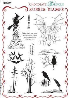 Hocus Pocus Rubber Stamp sheet - A5 - Chocolate Baroque