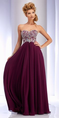 I like something like this. The beaded top and Flowy bottom and the colour