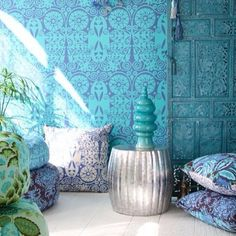 .@lucienne_interiors | ★Blue Moroccan Decor★
