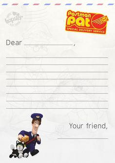 Write a letter to your Gran with our Postman Pat letter template!