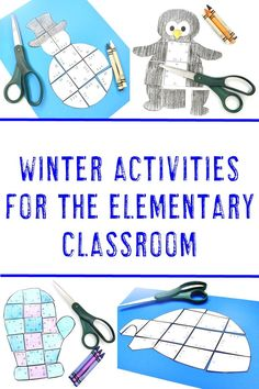 Winter Activities for Kids at the Elementary Level - HoJo Teaches 4th Grade Classroom, Middle School Classroom, Classroom Activities, Early Finishers Activities, Winter Activities For Kids, Halloween Math, Home Schooling, Preschool Kindergarten, Kids Learning