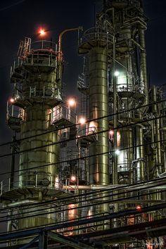 HDR Photo: Factory night view 'Iron Jungle'
