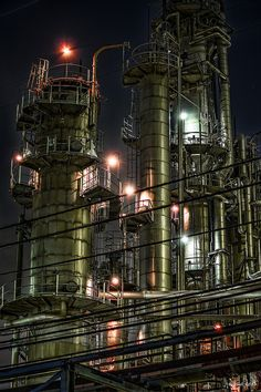 HDR Photo: Factory night view 'Iron Jungle'