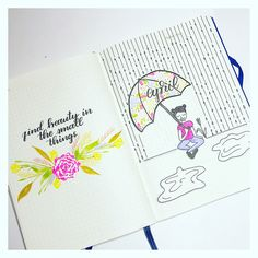 April Cover page in my Bullet Journal.