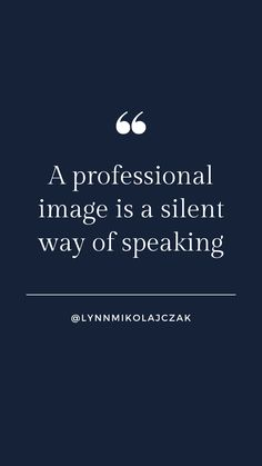 A professional image is a silent way of speaking More workwear inspiration? Follow  @lynnmikolajczak on Instagram. Professional Image, Workwear Fashion, Working Woman, Work Wear, Inspirational Quotes, Photo And Video, Instagram, Women, Style