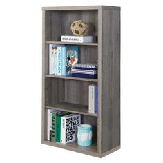 "Monarch Specialties Inc. Reclaimed Look 48"" Standard Bookcase & Reviews…"