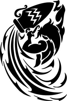 The popular symbol of Aquarius is pouring of water from a container indicating that the Water Bearer is generally its known symbolism. Description from zodiactattooideas.com. I searched for this on bing.com/images