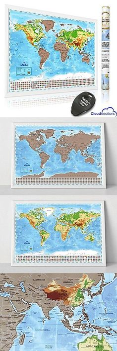 Other travel maps 164807 the ultimate scratch off world map with other travel maps 164807 the ultimate scratch off world map with flags and glossy finish premium tools buy it now only 3623 on ebay gumiabroncs Image collections