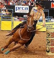 Charmayne James. My role model. Won 11 world championships at the National Finals Rodeo. 10 of them were consecutive wins.