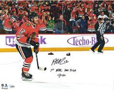 dfca6e813a6 Alex DeBrincat Blackhawks Signed 16x20 Photo with 1st Hat Trick Insc -  Fanatics Nhl Chicago