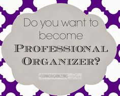 With the New Year coming, NOW is a GREAT time to think about becoming a professional organizer! If you& always thought about it, go here to find out how easy it can be! Organize Your Life, Organizing Your Home, Organizing Ideas, Organising Tips, Business Organization, Life Organization, Starting A Business, Business Planning, Business Ideas