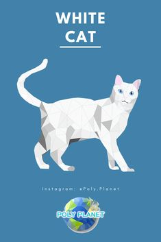 Visit our site to download the low-poly drawing app! Low Poly, Planets, Drawings, Cats, Movie Posters, Gatos, Kitty Cats, Film Poster, Cat