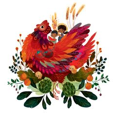 The Little Red Hen by Lorena Alvarez Gómez, via Behance