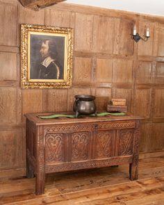 Superb Charles I oak carved chest, circa 1630. Marhamchurch antiques
