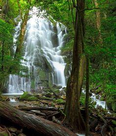 Waterfall inside Rincon de la Vieja National Park in Costa Rica