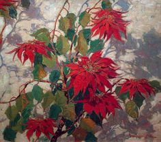 Image from http://www.bodegabayheritagegallery.com/images/Lauritz_Paul_Poinsetias_6.jpg.