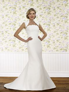 The Steven Birnbaum Collection Stephanie wedding gown, available at Something White, A Bridal Boutique