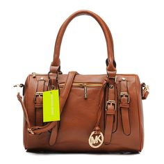 #PinLove Michael Kors Grayson Large Brown Satchels$68.99