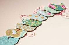 Bird paper garland Doublesided by soyunmix on Ets